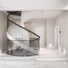 Проект частного дома: Лестницы в . Автор – Оксана Котова, Модерн