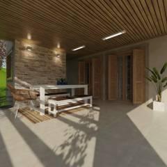 بلكونة أو شرفة تنفيذ Cíntia Schirmer | arquiteta e urbanista
