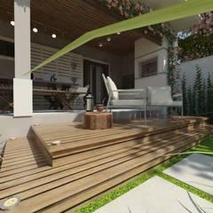 CASA JR Varandas, alpendres e terraços clássicos por Cíntia Schirmer | arquiteta e urbanista Clássico