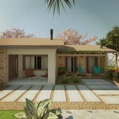 CASA PE: Casas  por Cíntia Schirmer   Estúdio de Arquitetura e Urbanismo