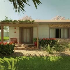 CASA PE: Casas  por Cíntia Schirmer | Estúdio de Arquitetura e Urbanismo