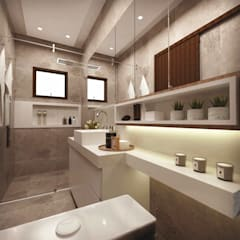 Baños de estilo  por Cíntia Schirmer | Estúdio de Arquitetura e Urbanismo