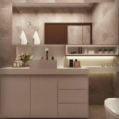 BANHEIRO JL: Banheiros  por Cíntia Schirmer   Estúdio de Arquitetura e Urbanismo