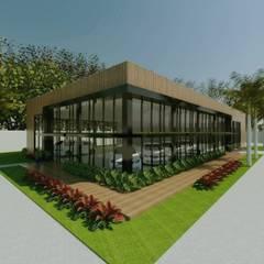Projekty,  Salony samochodowe zaprojektowane przez Cíntia Schirmer | Estúdio de Arquitetura e Urbanismo
