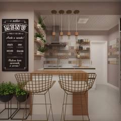 CASA PE: Cozinhas  por Cíntia Schirmer | Estúdio de Arquitetura e Urbanismo