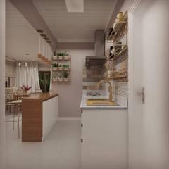 مطبخ تنفيذ Cíntia Schirmer | Estúdio de Arquitetura e Urbanismo