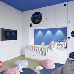 """""""Zielono mi!"""" Słupno: styl , w kategorii Pokój dla chłopca zaprojektowany przez 4 kąty a stół 5 Pracownia Projektowa Ewelina Białobrzewska"""
