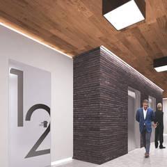 ezgi yüce mimarlik aş. – NEF FLATS 08 :  tarz Koridor ve Hol, Modern
