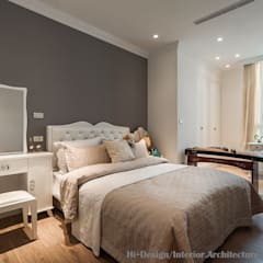 Small bedroom by Hi+Design/Interior.Architecture. 寰邑空間設計