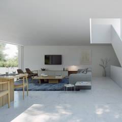 Casa en el lago: Comedores de estilo  de FRAN SILVESTRE ARQUITECTOS