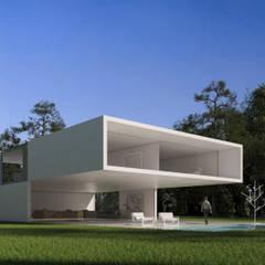 Casa en el lago: Casas de estilo  de FRAN SILVESTRE ARQUITECTOS