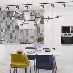 Дизайн квартиры в  ЖК Вишневый сад: Встроенные кухни в . Автор – YZ-design