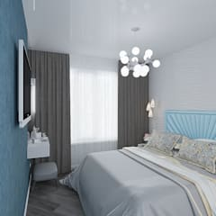 Дизайн квартиры в  ЖК Вишневый сад: Спальни в . Автор – YZ-design