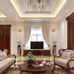 Thiết kế nội thất phòng khách:  Phòng khách by UK DESIGN STUDIO - KIẾN TRÚC UK