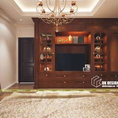 Thiêt kế phòng ngủ:  Phòng ngủ nhỏ by UK DESIGN STUDIO - KIẾN TRÚC UK