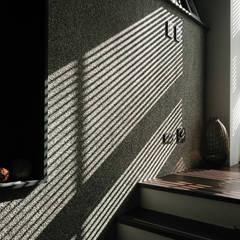 光與牆:  樓梯 by 黃耀德建築師事務所  Adermark Design Studio