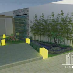 Render Perspectiva Propuesta Fuente : Jardines de estilo  por INMOBA