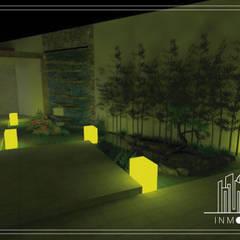 Render Perspectiva Propuesta Fuente de Noche  : Jardines de estilo  por INMOBA