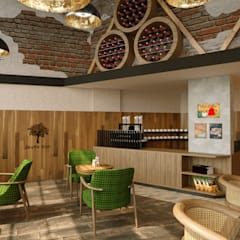 Wine cellar by Dem Dizayn, Country Wood Wood effect