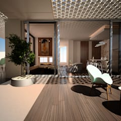 Ms. Safa'a Elayyan Villa:  Study/office by dal design office