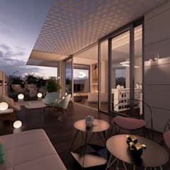 Roof terrace by dal design office
