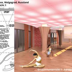 Gruppenunterricht 1 - Aerobic oder Karaoke-Fitness:  Hotels von GID│GOLDMANN - INTERIOR - DESIGN