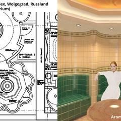 Aroma-/Blüten-Dampfbad (Caldarium):  Geschäftsräume & Stores von GID│GOLDMANN - INTERIOR - DESIGN