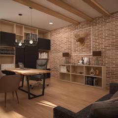 """Квартира в экостиле в ЖК """"Триколор"""": Рабочие кабинеты в . Автор – дизайн-бюро ARTTUNDRA"""