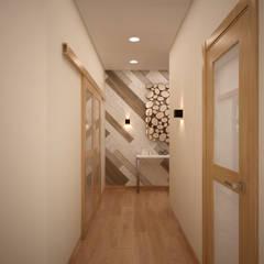 """Квартира в экостиле в ЖК """"Триколор"""": Коридор и прихожая в . Автор – дизайн-бюро ARTTUNDRA"""