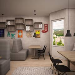 """Кафе- блинная """"Три сковородки"""": Торговые центры в . Автор – дизайн-бюро ARTTUNDRA"""