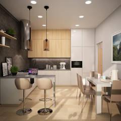مطبخ تنفيذ дизайн-бюро ARTTUNDRA
