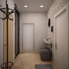 """Квартира в современном стиле в ЖК """"Андерсон"""": Коридор и прихожая в . Автор – дизайн-бюро ARTTUNDRA"""