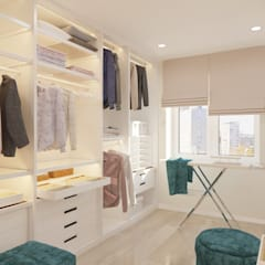 Светлая квартира с синими акцентами.: Гардеробные в . Автор – дизайн-бюро ARTTUNDRA