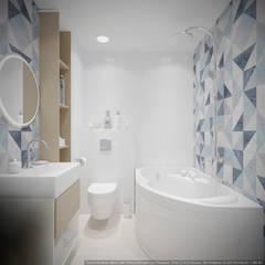 Однокомнатная квартира в которой есть всё: Ванные комнаты в . Автор – дизайн-бюро ARTTUNDRA