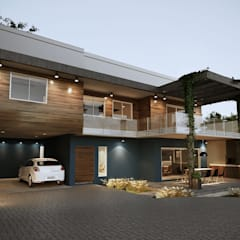 lateral Casa Fachada Moderna: Condomínios  por Gelker Ribeiro Arquitetura | Arquiteto Rio de Janeiro