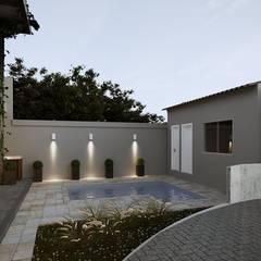 Projeto Casa DF |(Cafundá) Taquara RJ: Piscinas  por Gelker Ribeiro Arquitetura | Arquiteto Rio de Janeiro