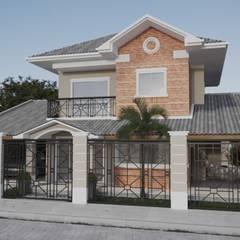 Portão de grade preta | RJ: Casas familiares  por Gelker Ribeiro Arquitetura | Arquiteto Rio de Janeiro