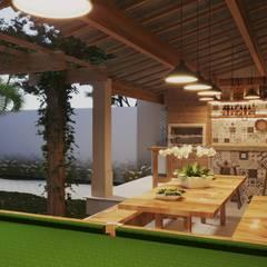 Garajes abiertos de estilo  por Gelker Ribeiro Arquitetura | Arquiteto Rio de Janeiro