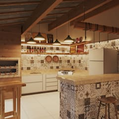 Kitchen units by Gelker Ribeiro Arquitetura