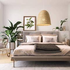 Pastelowy naturalizm: styl , w kategorii Sypialnia zaprojektowany przez Valido Architects
