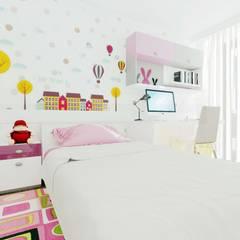 ANTE MİMARLIK  – Altındağ Prestij Konut:  tarz Kız çocuk yatak odası