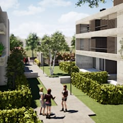 PH Terrada II: Condominios de estilo  por Gustavo Avila, arquitecto