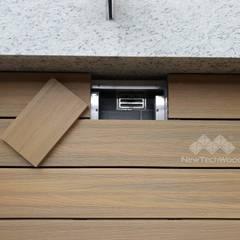 Classic style balcony, porch & terrace by 新綠境實業有限公司 Classic Wood-Plastic Composite