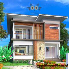 منزل عائلي كبير تنفيذ แบบบ้านออกแบบบ้านเชียงใหม่