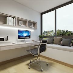 Modern Glamour at Holland Village Condo Modern study/office by Singapore Carpentry Interior Design Pte Ltd Modern