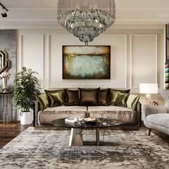 Modern style ~ Thiết kế nội thất hiện đại tinh tế từng chi tiết:  Phòng khách by ICON INTERIOR