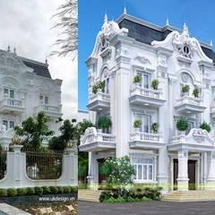 Nhà phố cổ điển:  Biệt thự by UK DESIGN STUDIO - KIẾN TRÚC UK