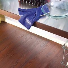 Fired ash engineered wood flooring:  Floors by Unique Bespoke Wood