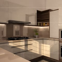 3BHK Interiors :  Kitchen by Fabmodula