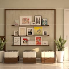 3BHK Interiors :  Walls by Fabmodula